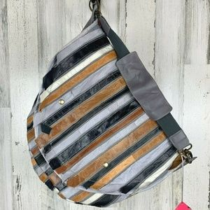 De.De Los Angeles Hobo Bag Re-Purposed Leather